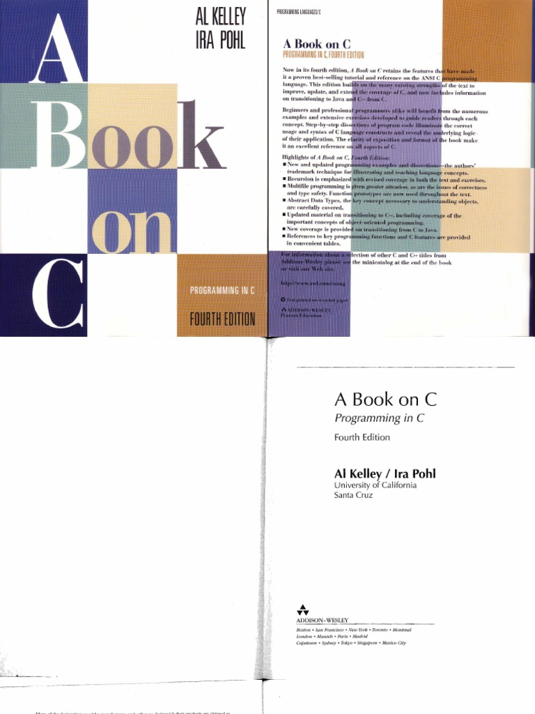 A book on c programming in c 4th edition c programming language a book on c programming in c 4th edition c programming language c fandeluxe Choice Image