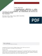 2001 La relazione tra costellazione affettiva e valutazione scolastica degli insegnanti in un contesto sociale di marginalità un contributo di ricerca in preadolescenza
