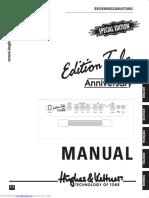 Hughes and Kettner Edition Tube 20th Anniversary Manual