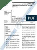 NBR 13116_1994 - Cimento Portland de Baixo Calor de Hidratação