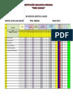 Registro de Asistencia - Peru School-6to