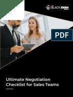 Ultimate Negotiation Checklist