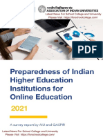 All India University Report on Online Education