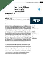 Blanco (2016) Urbanización y movilidad. Contradicciones del modelo automóvil.
