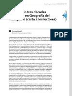 Kralich (2016) Tres Decadas de Historia Del Transporte. Carta a Lectores