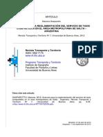 Gasparotto (2012) Avances para la reglamentación del servicio de taxis de Salta.