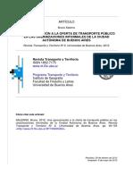Salerno (2012) Una aproximación al transporte público en las urbanizaciones informales de CABA
