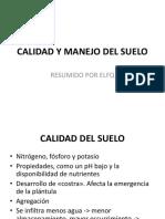CLASE 17. CALIDAD Y MANEJO DEL SUELO