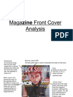 Magazine Front Cover Analysis