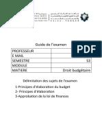 DROIT BUDGETAIRE - Délimitation d exm