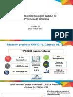 Situación epidemiológica COVID-19 Provincia de Córdoba