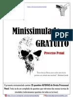 Minissimulado GRATUITO - Direito Processual Penal - Comentado