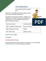 Modal verbs for deduction