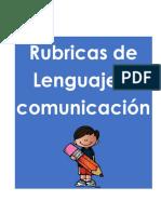 1. Rubrica Lenguaje y comunicacion