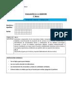 Evaluación 1 Lenguaje  II semestre