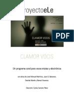 CLAMOR VOCIS - Dossier Turina + necesidades técnicas
