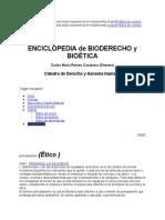 ENCICLOPEDIA de BIODERECHO y BIOÉTICA