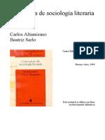 Altamirano-Sarlo_Géneros