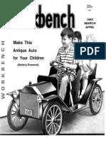 Vintage Car Pedal Plans