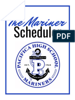 the mariner scheduler for 2019-2020 school year  2