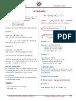 Separata Nivelacion en Matematica Factorización