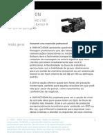 Sony HXR-MC2000N - Folheto de Apresentação PT BR