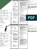 Sony ICD-PX333 - Guia de início rápido PT BR