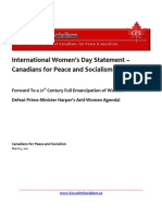 CPS - International Women's Day Statement
