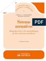 Sistemas Normativos. Segunda Edición. Carlos Alchourrón y Eugenio Bulygin