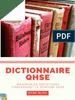 Dictionnaire QHSE