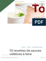10 recettes de sauces célèbres à faire maison en moins de 20 mn ! | Croquons la vie
