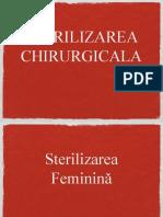 sterilizarea chirurgicala (femeie si barbat)