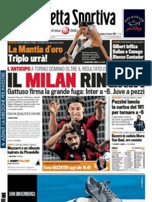 gazzetta_20110306 | A C  Milan | Sports Organisations
