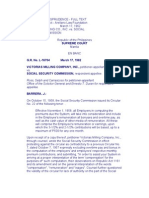 Victorias Milling Co., Inc. v. Social Security Commission
