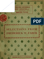 Frederick William Faber - Selections of His Writings