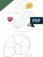 Рисование по точкам - Ракушки