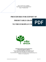 Procedure for Export of Grapes 2020-21