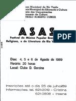 Festival ASAS - Rio Verde - Ago 1989