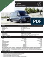 B09916754 Folheto técnico Sprinter Furgão
