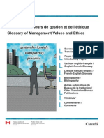 Management values and ethics