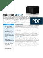Synology DS1515 Plus Data Sheet Enu