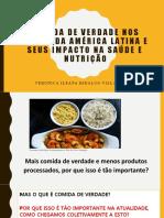 Comida de verdade nos países da américa latina
