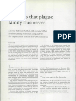 Conflicts that plague family businesses