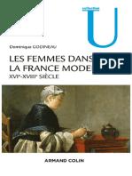 Les Femmes Dans La France Moderne XVIe XVIIIe Siècle Godineau Dominique