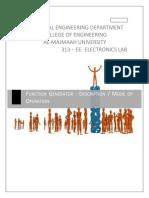 313-EE Lectuer-1 Function Generator