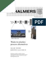 CPM report 2 Waste to plastics process alternatives