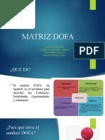 EXPOSICIÓN MATRIZ DOFA