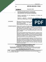 SR EN ISO CEI 17025 -2005