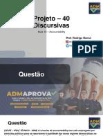 Projeto Discursivas - Aula 13
