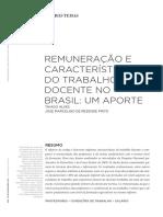 Artigo - Remuneração e características do trabalho docente no Brasil - ALVES e PINTO 2011